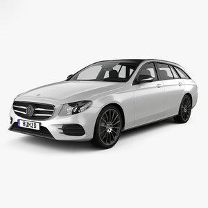 3D model mercedes-benz e-class e