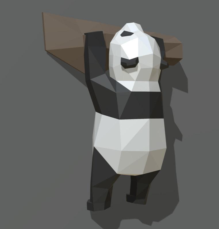 3D printed panda figure 3