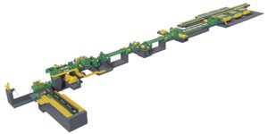 metal sheet cutting conveyor 3D model