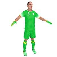 soccer goalkeeper 3D model