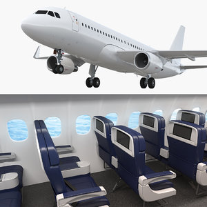 airbus a320neo interior air 3D model