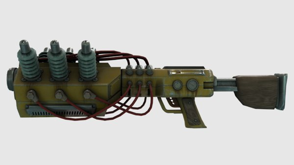 tesla rifle weapon pbr 3D