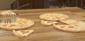 modeled pizza 3D