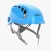 3D blue bike helmet