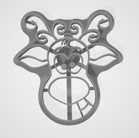 3D model cookie cutter deer