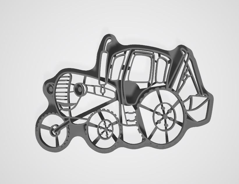 3D model cookie cutter bluetractor