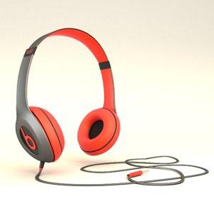 headphone beats 3D model