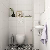 3D restroom interior model