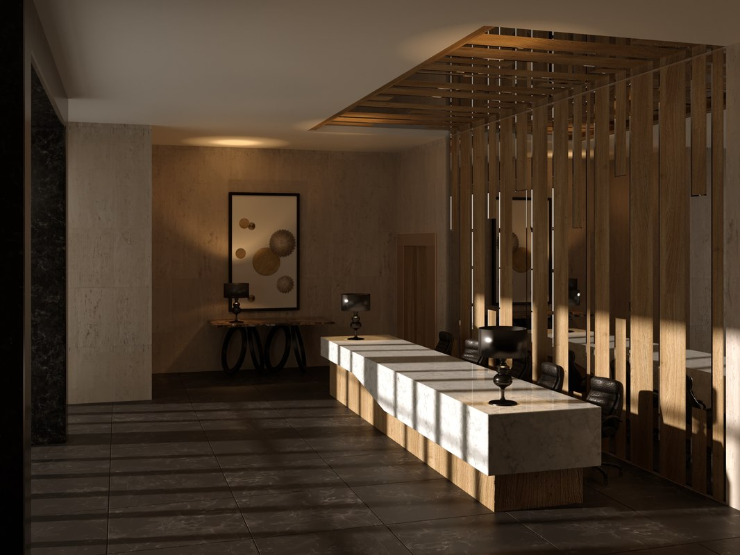 3D modern office model