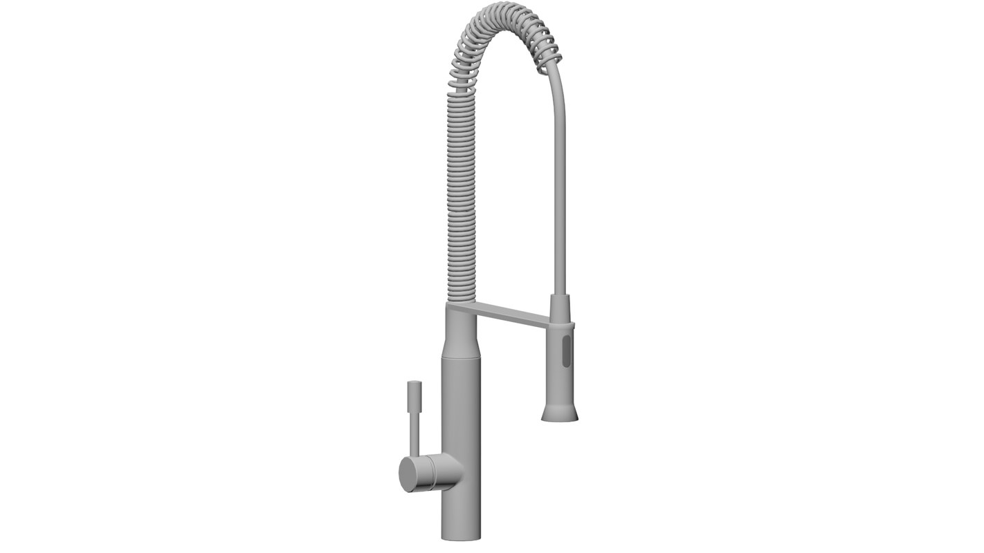 3D bathroom tap model