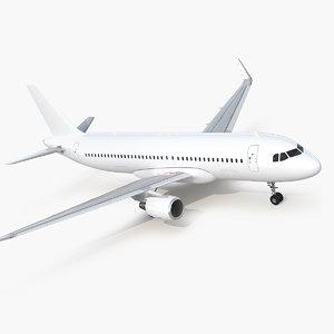 3D airbus a320neo simple interior