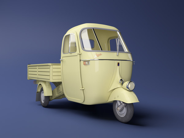 3D model ape piaggio transport vehicles