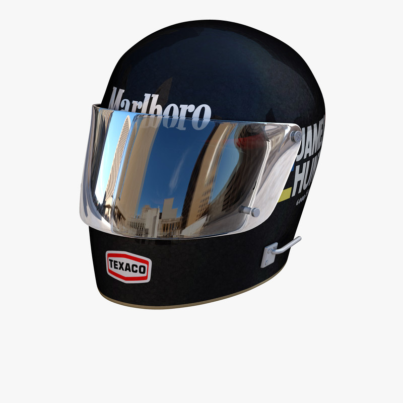 3D james hunt helmet