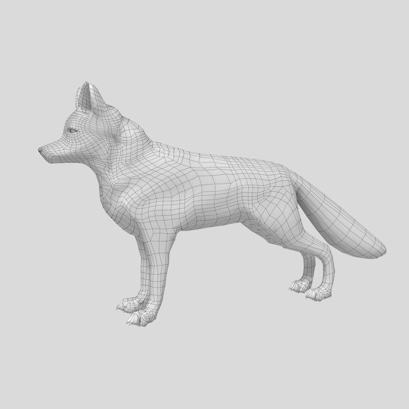 3D re-top fox model