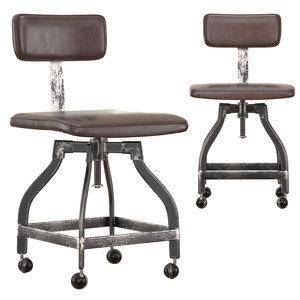 3D draftsman s desk chair