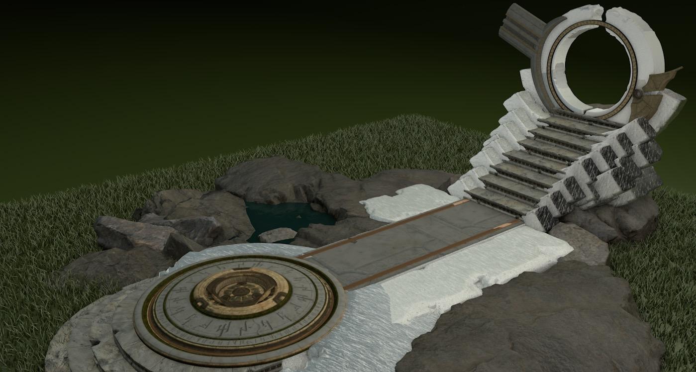 3D high-res altar
