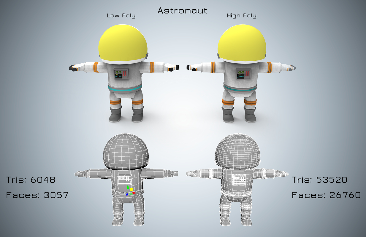 astronaut cartoon run model
