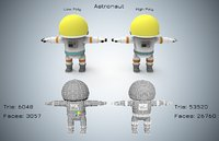 astronaut cartoon run model