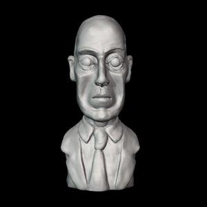 3D world fantasy awards lovecraft model