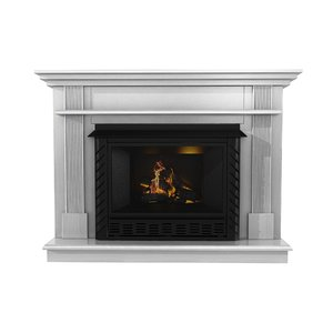 fireplace ashley white wood 3D model