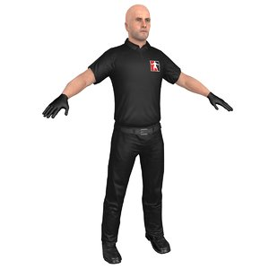mma referee 3D model