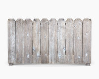 american wood fence 3D