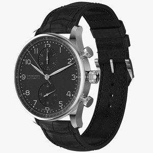 3D model realistic chronograph watch