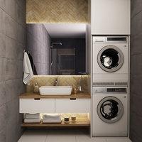 decor restroom interior 3D