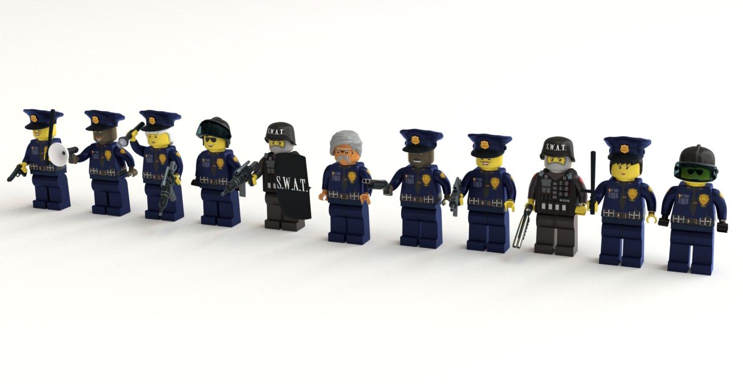 lego police 3D model