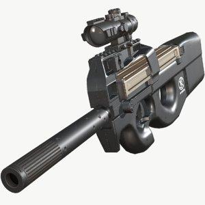 3D p90 pbr model