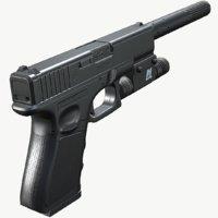 glock pistol pbr 3D
