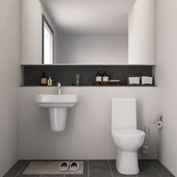restroom interior decor 3D model