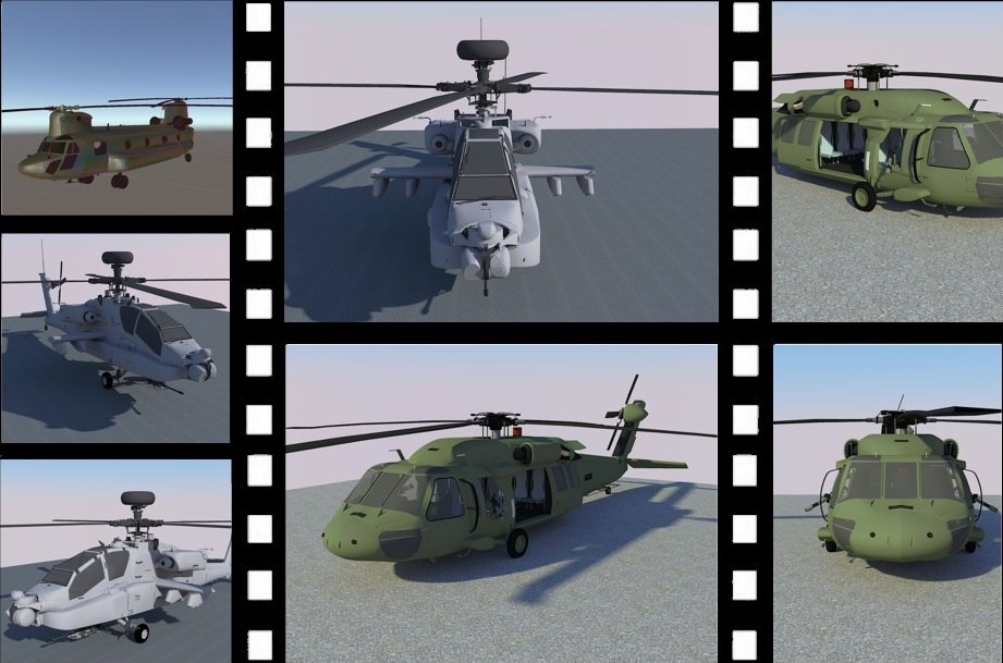 package chinook helicopter model