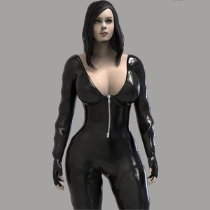 3D action girl character model