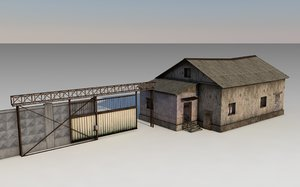 old soviet checkpoint 3D model