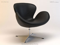 3D swan chair