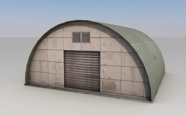 3D small warehouse model