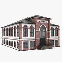 museum architecture building 3D model