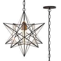 3D model star black metal lamp