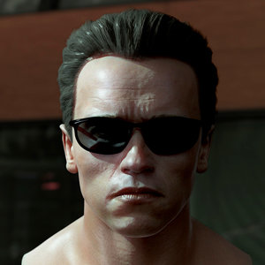 arnold schwarzenegger head male character 3D model