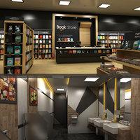 restroom book store 3D model