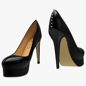 black shoes 3D model