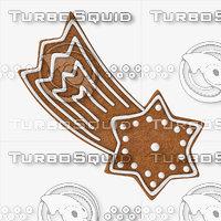 gingerbread star cookie 3D model
