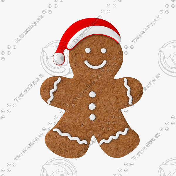 3D gingerbread man cookie