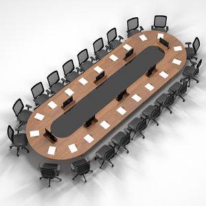 3D model meeting table screen