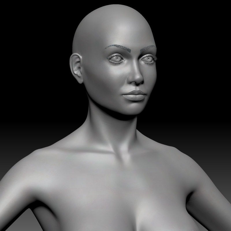 female basemesh ztool 4r8 3D model