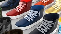 Stylized Shoes Sneakers collection Low-poly