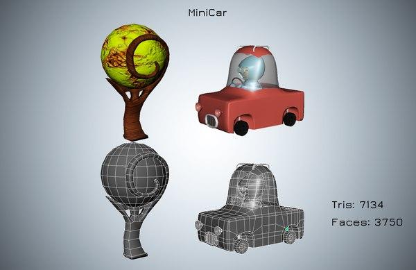 mini car 3D