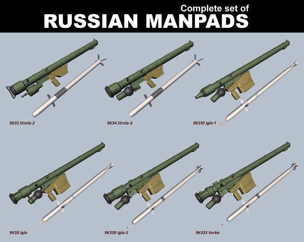 russian manpads 3D model