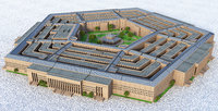 3D model pentagon united states